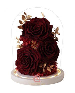 大玫瑰玻璃全景觀(深紅色)