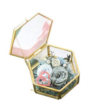 六角形介子盒(淺藍色)