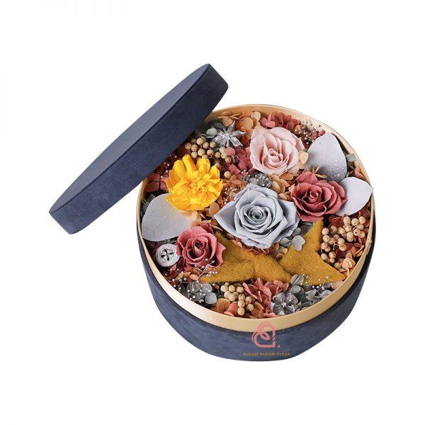 保鮮花絨盒(灰色)
