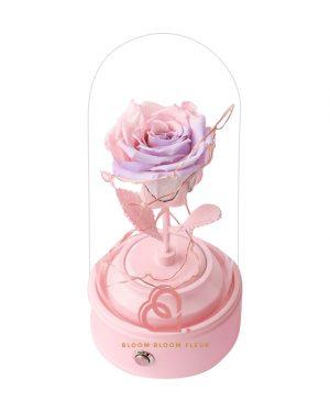 玫瑰保鮮花藍芽喇叭(粉紅紫色)