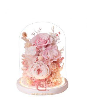 玻璃花園保鮮花(粉紅色)