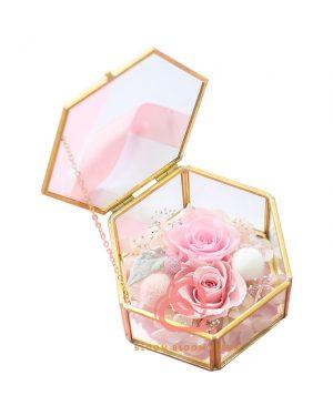 六角形介子盒(粉紅色)
