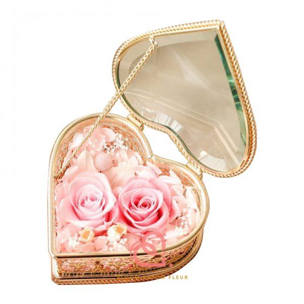 心形形介子盒(粉紅色)