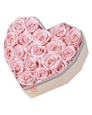 心形保鮮花大禮盒(粉紅色)