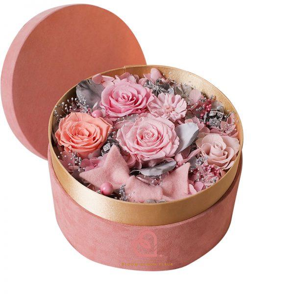 保鮮花絨盒(粉紅色)