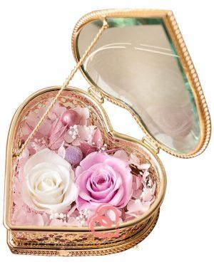 心形形介子盒(粉紫色)