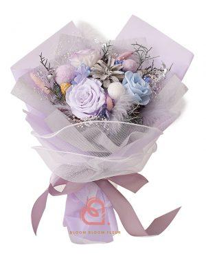 保鮮花花束(粉紫色)