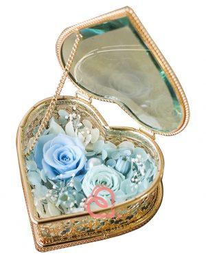 心形形介子盒(粉藍色)