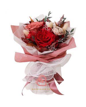 保鮮花花束(紅色)