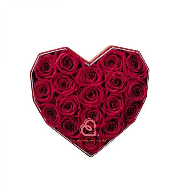 心形保鮮花大禮盒(紅色)