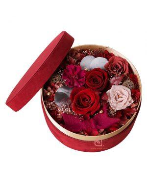 保鮮花絨盒(紅色)