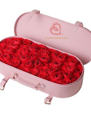保鮮花大皮盒(紅色)