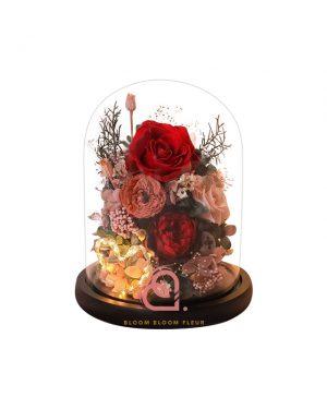 玻璃花園保鮮花(紅色)