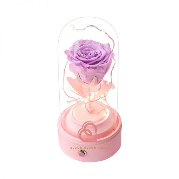 玫瑰保鮮花藍芽喇叭(紫色)
