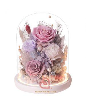 玻璃花園保鮮花(紫色)