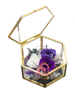 六角形介子盒(紫色)