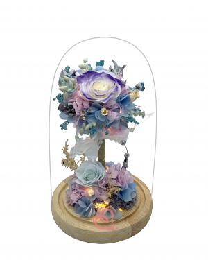 新保鮮花花樹(紫藍色)