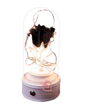 玫瑰保鮮花藍芽喇叭(黑色)