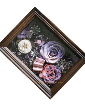 保鮮花相架 (紫白色)