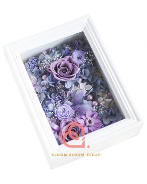 保鮮花相架 (紫色)